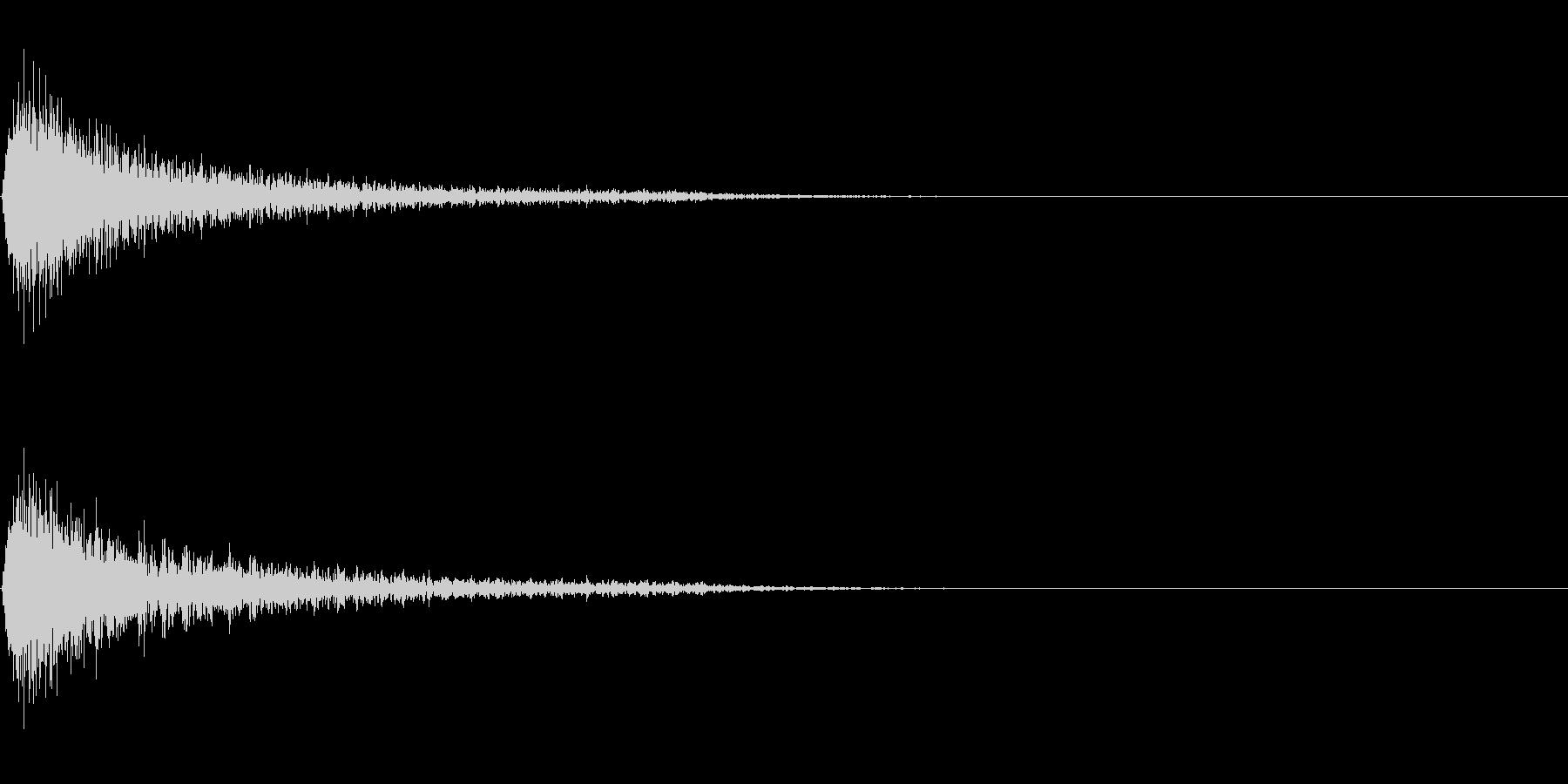 ショックを受ける・ガーン(ピアノの高音)の未再生の波形