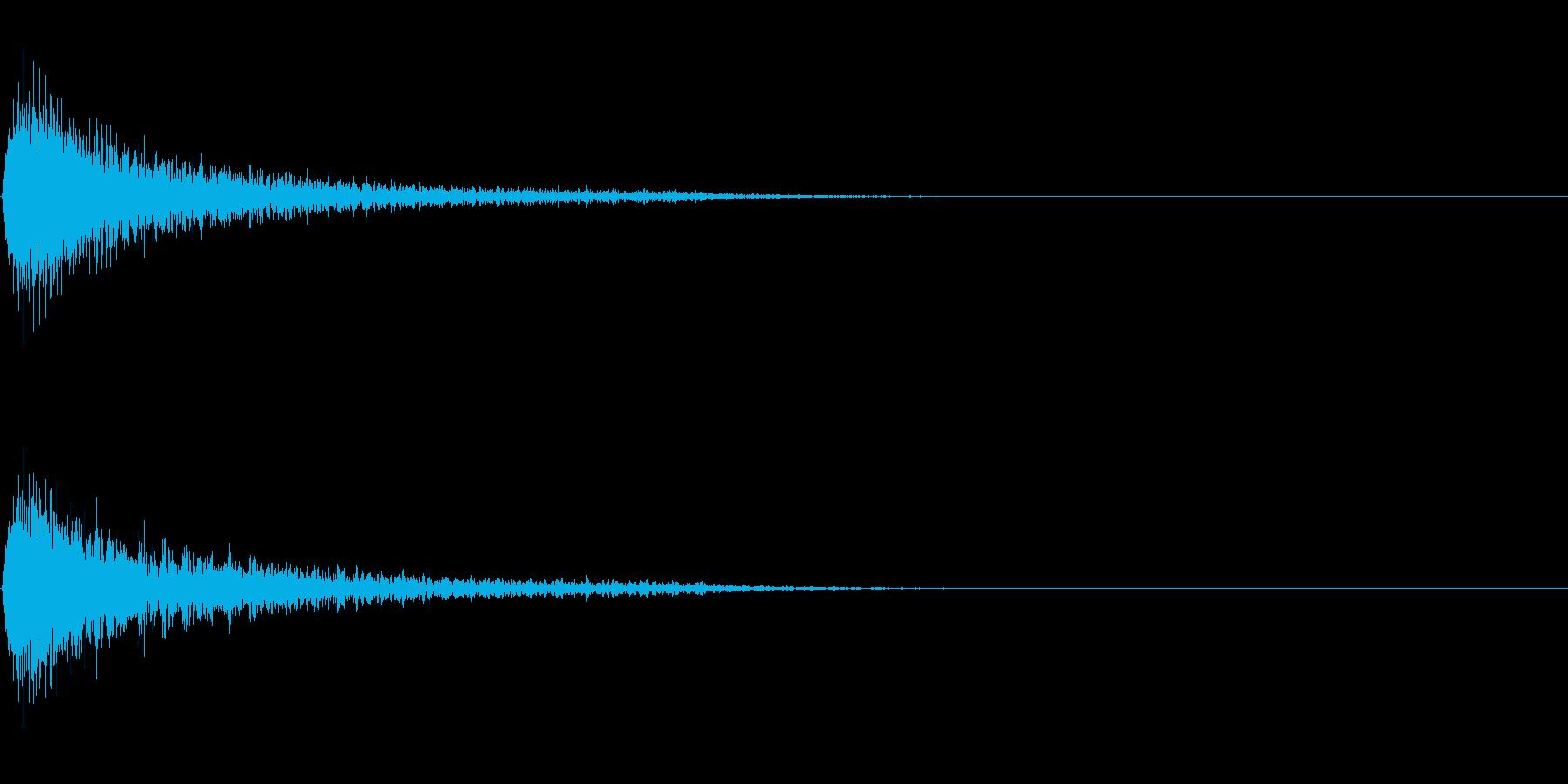 ショックを受ける・ガーン(ピアノの高音)の再生済みの波形