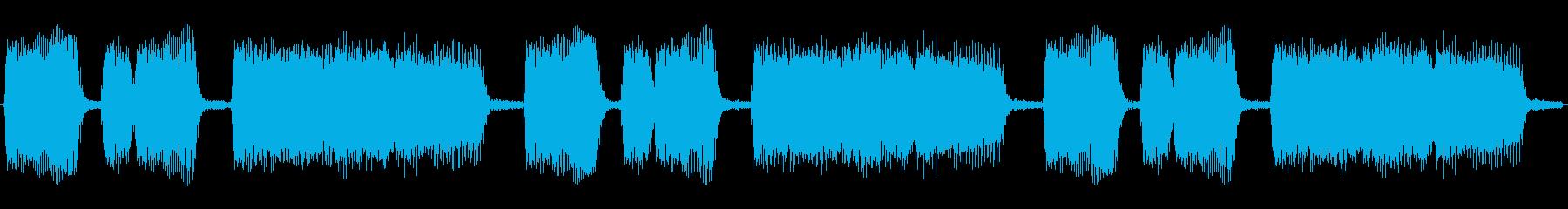 危機場面に流れそうなエレキギターのループの再生済みの波形