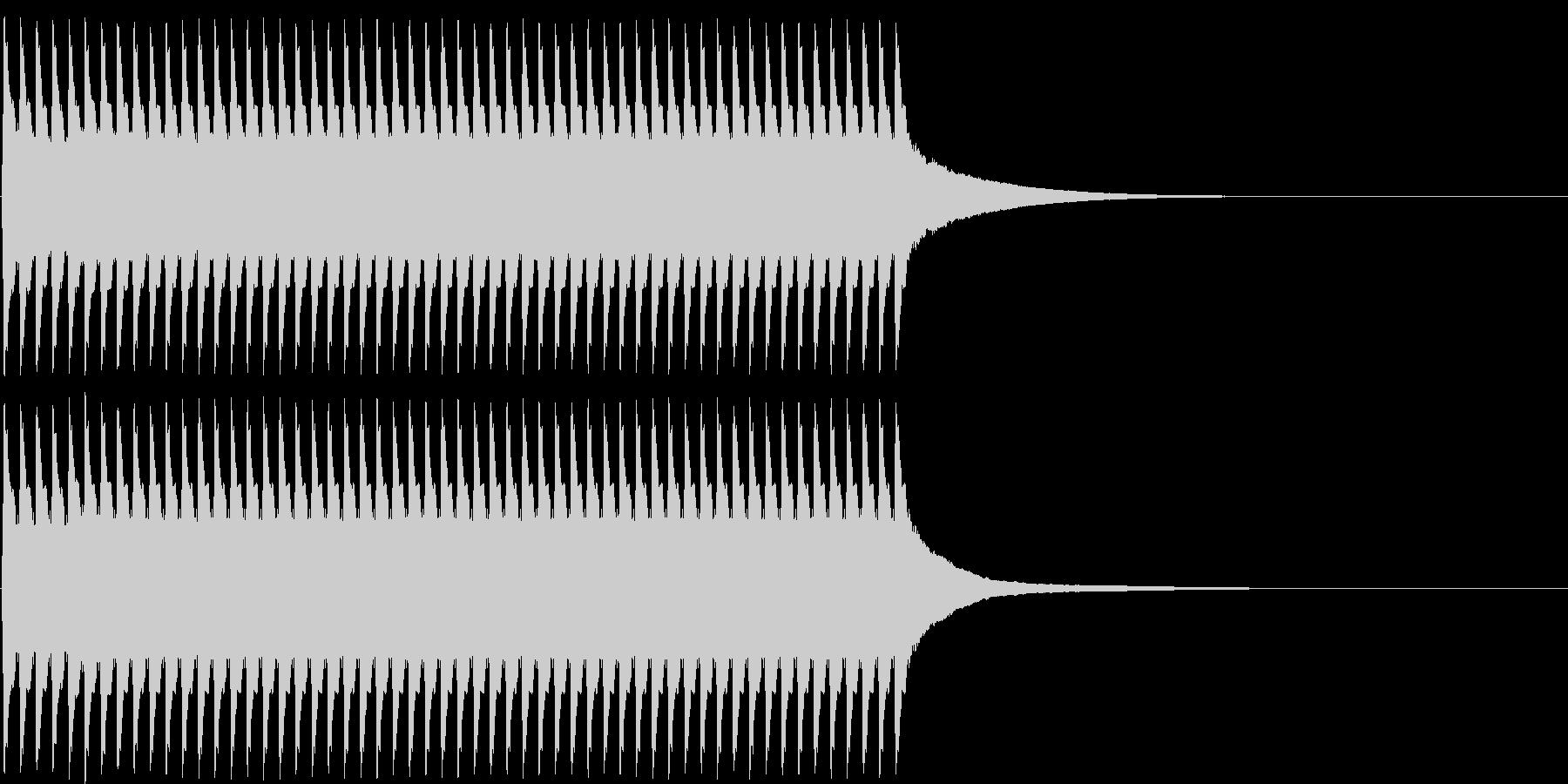 ジリリリ...。目覚まし時計の音(短め)の未再生の波形