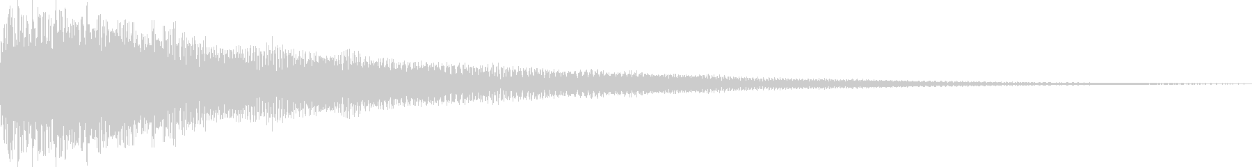 汎用性の高いクリック音 キンッの未再生の波形