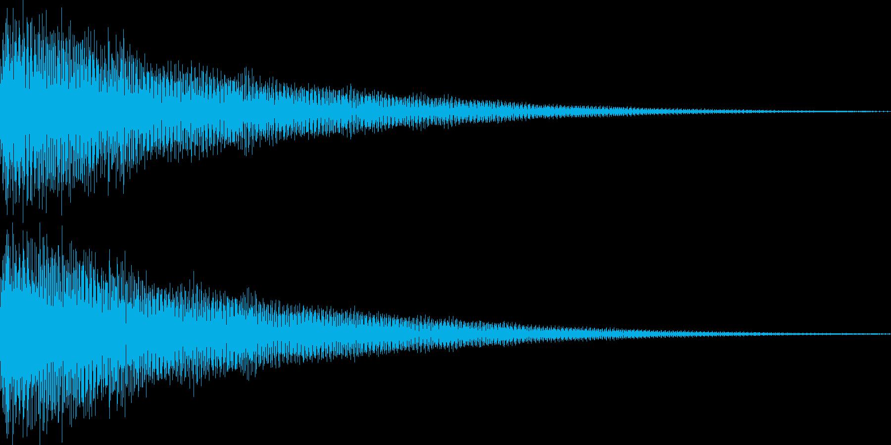 汎用性の高いクリック音 キンッの再生済みの波形