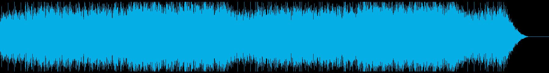 ハープとピアノの幻想的なBGM 水音ありの再生済みの波形