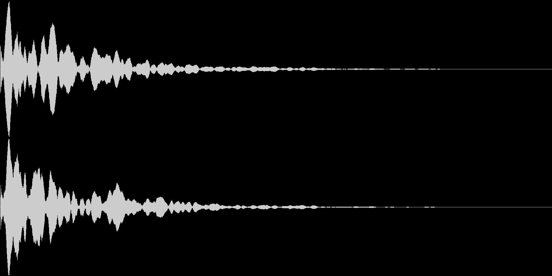 カーソル移動音(ピコン)の未再生の波形