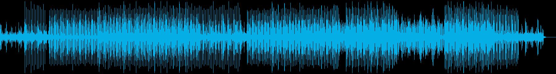 クールな印象の四つ打ちテクノの再生済みの波形