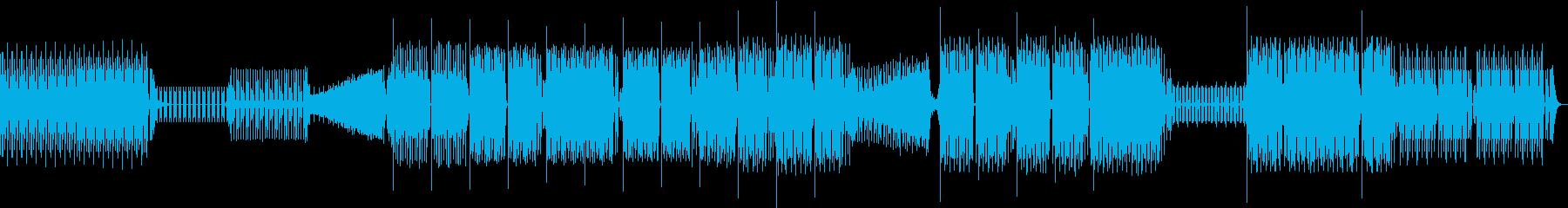 家。電子、エレクトロの再生済みの波形