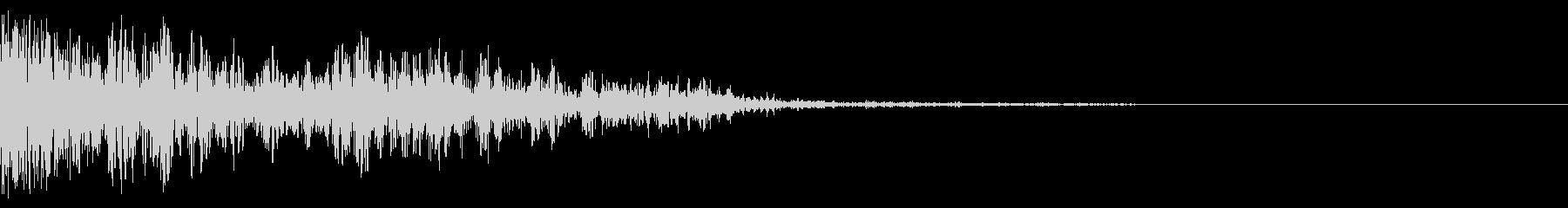 ピュィーン (ボタン・開始音・打撃音)の未再生の波形