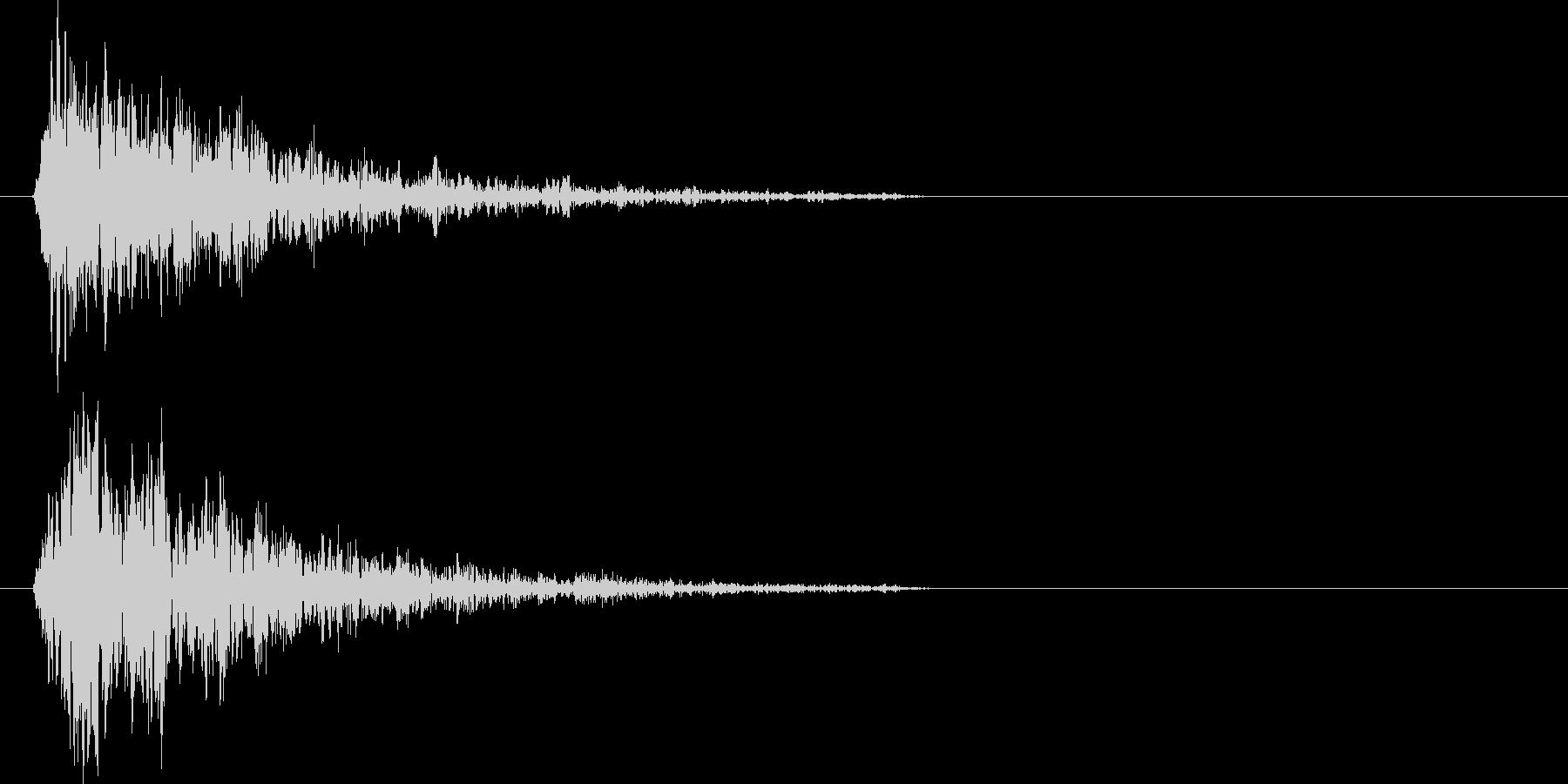 ブォーン(爆発、衝撃波)の未再生の波形