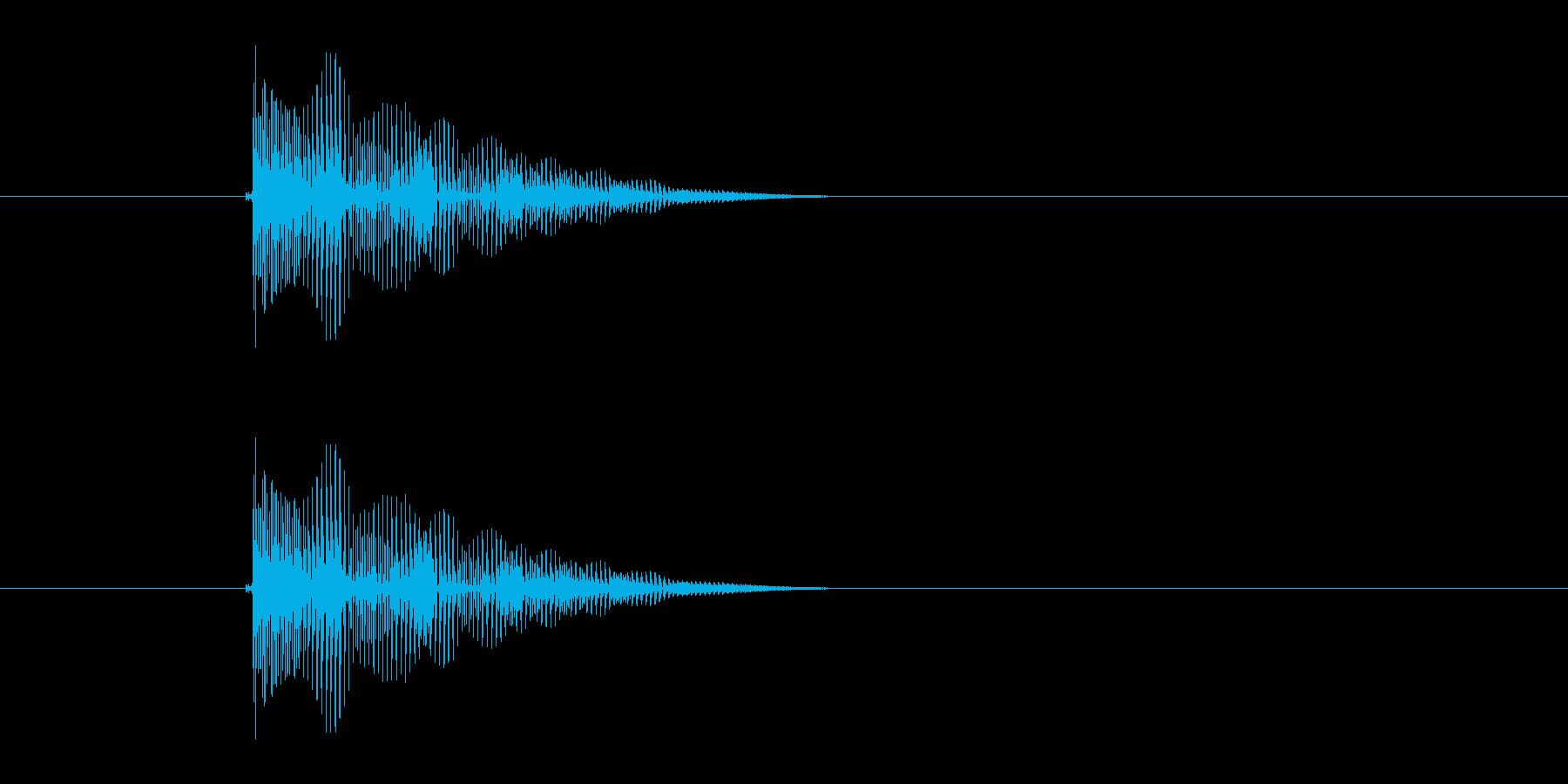 ボヨヨヨーン(跳ねる、コミカル)の再生済みの波形