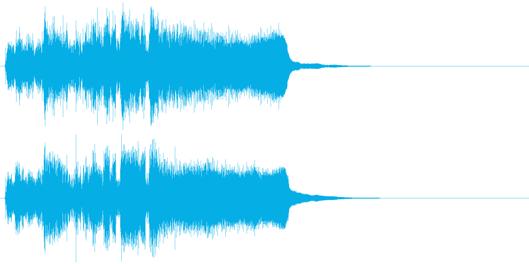 爽快、勢い、明るい、ジャズ系サウンドロゴの再生済みの波形