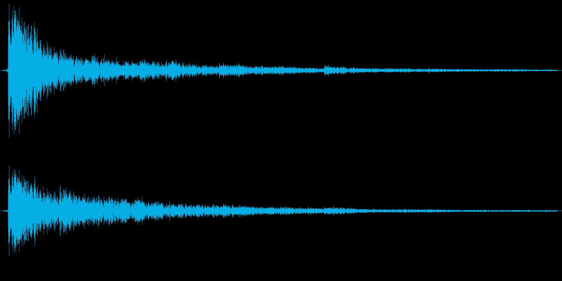 カーン、という金属の鳴る音ですの再生済みの波形