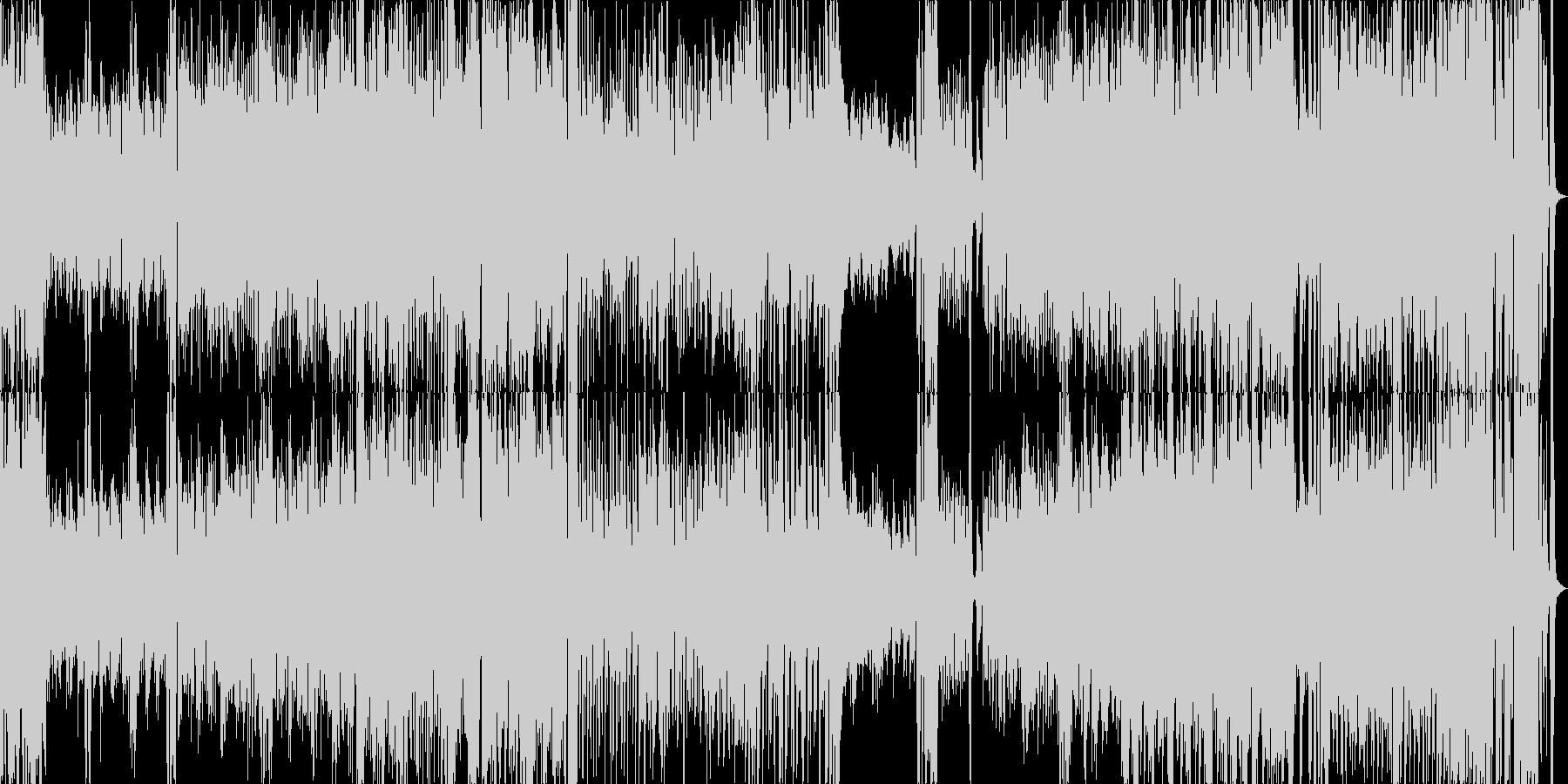 キャバレー風の小編成ビッグバンドジャズの未再生の波形