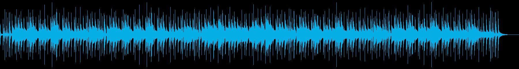 ウクレレとハープの南国ハワイアンポップスの再生済みの波形