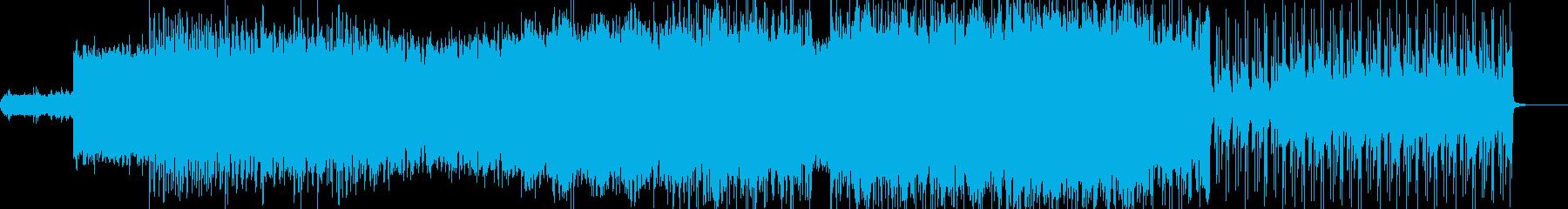 攻撃的で疾走感のあるクールなインストの再生済みの波形