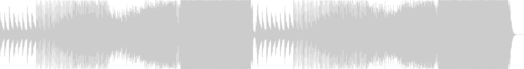 壮大なピアノが特徴的なEDMの未再生の波形