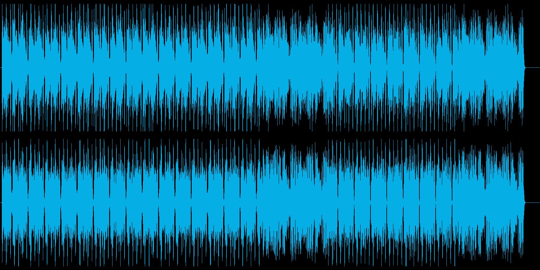 キャッチーでおしゃれなテクノポップの再生済みの波形