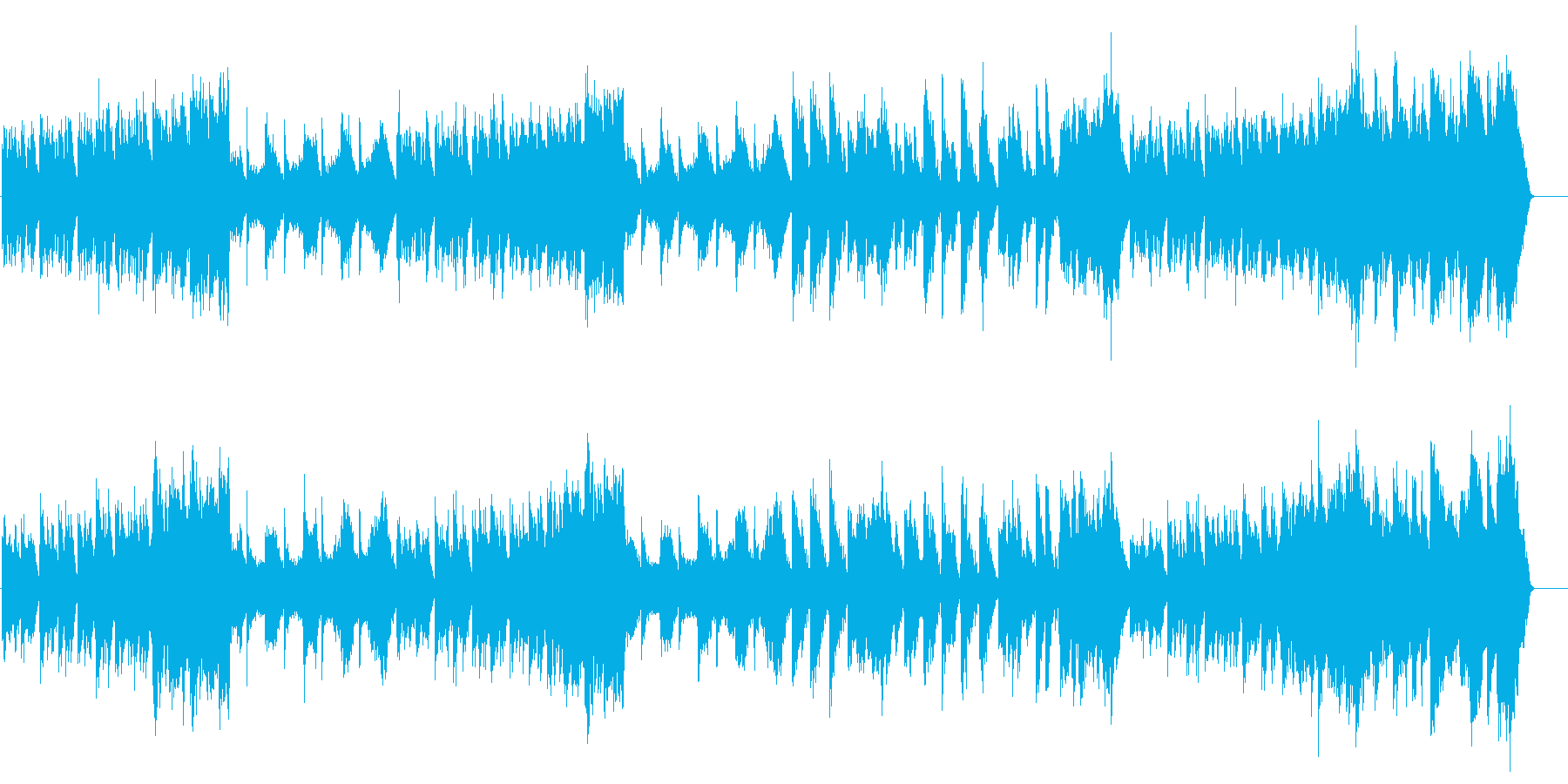 ニューエイジ系 ネイチャー・サウンドの再生済みの波形