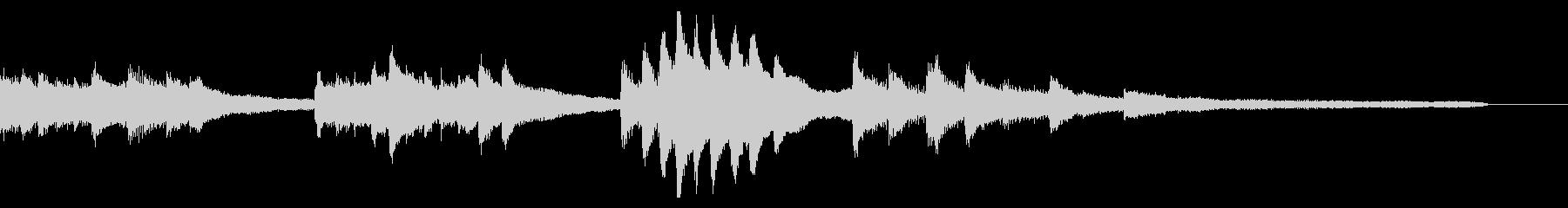 冷たい和風ジングル56-ピアノソロの未再生の波形