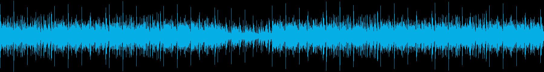 154bpm、E-Maj_16ビートの再生済みの波形