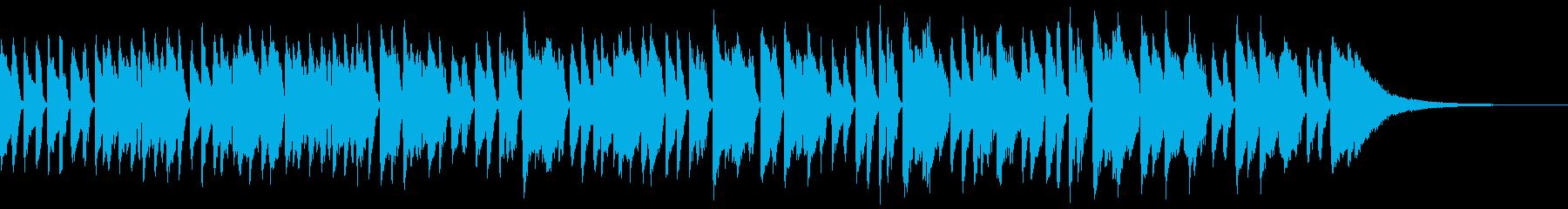 退屈なブルースギターの再生済みの波形