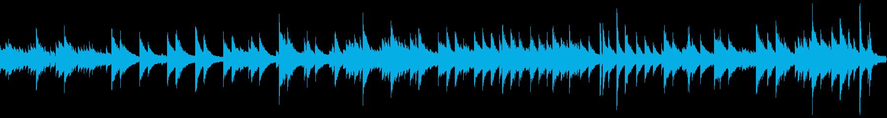 落ち着いた雰囲気のバラード(ループ仕様)の再生済みの波形