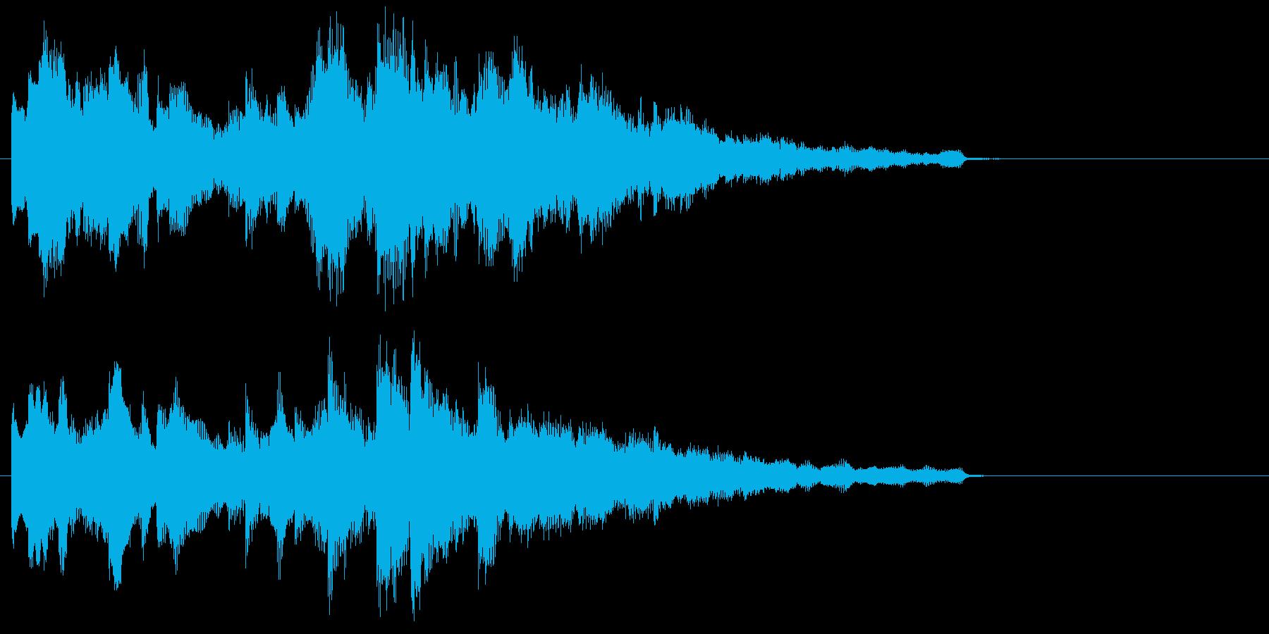 心を癒すリラクゼーションミュージックの再生済みの波形