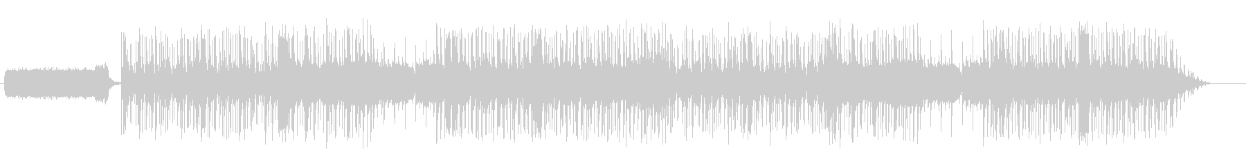 ゴシックホラーゲーム風のループBGMの未再生の波形