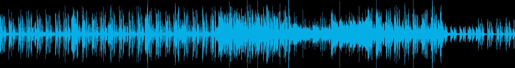 チャイムをアレンジした音を入れたポップスの再生済みの波形