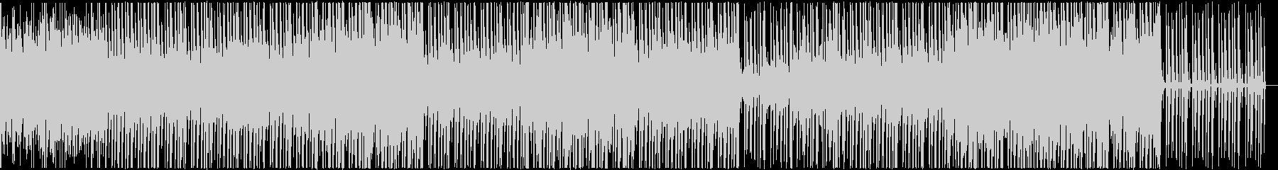 独特なドラムビートのBGMの未再生の波形
