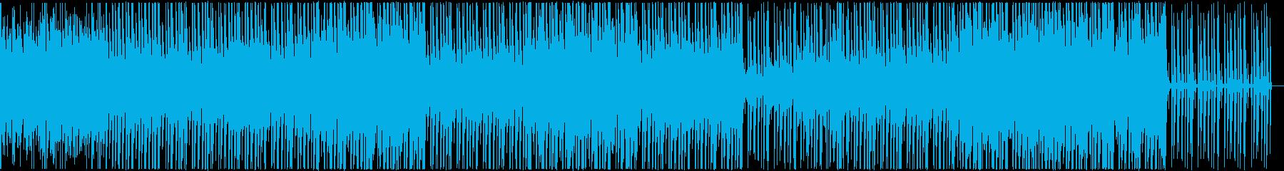 独特なドラムビートのBGMの再生済みの波形