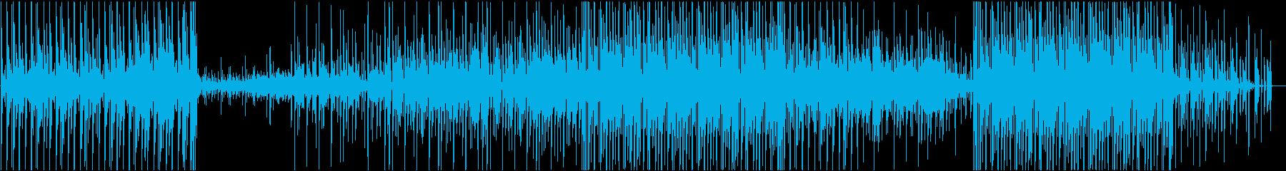 のんびりテンポの癒し系楽曲の再生済みの波形