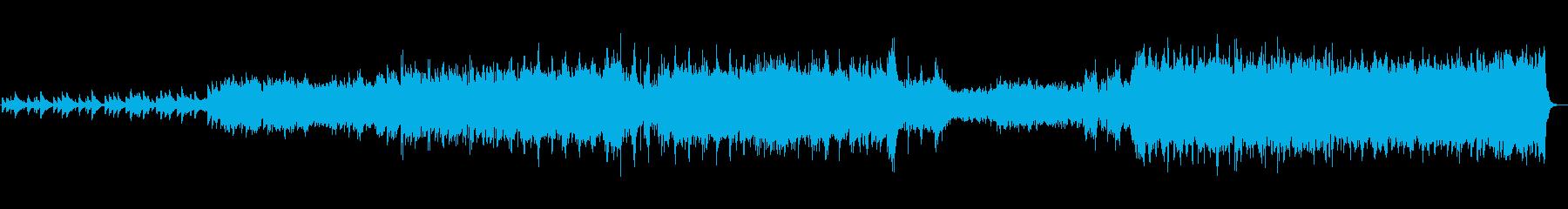 少し激しめなアコースティックサウンドの再生済みの波形