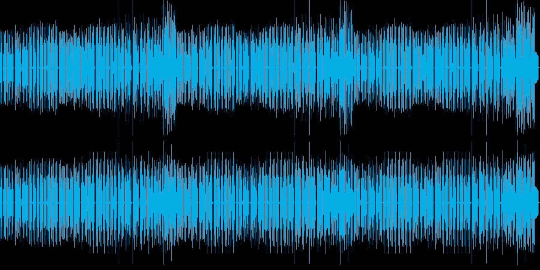 シンプルな和風曲の再生済みの波形