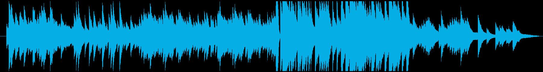 ピアノメインの温かな感動系BGMの再生済みの波形