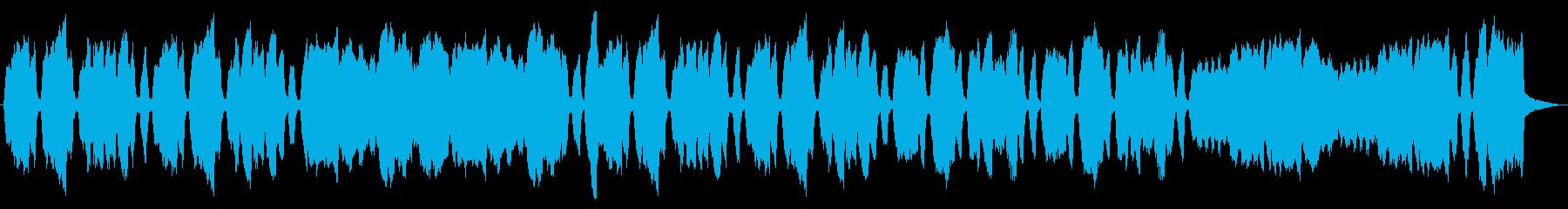 彷徨う様子を表現するパイプオルガンの再生済みの波形