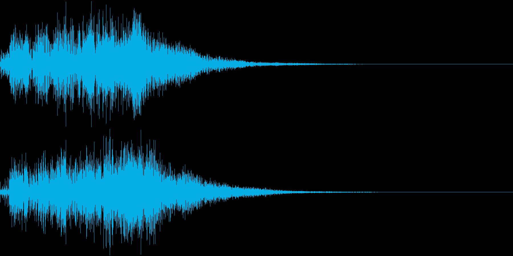アップ ビュン 上がる 変身 変化 02の再生済みの波形