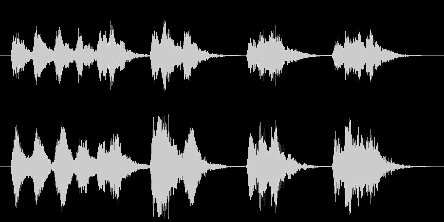 力強い弦楽器のジングル(場面転換)の未再生の波形