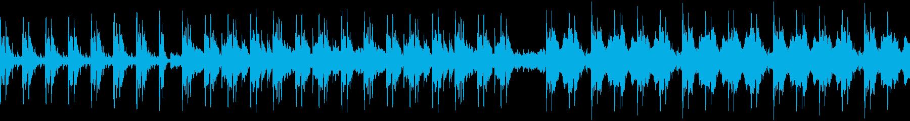 歪んだオルゴールで奏でるホラーBGMの再生済みの波形
