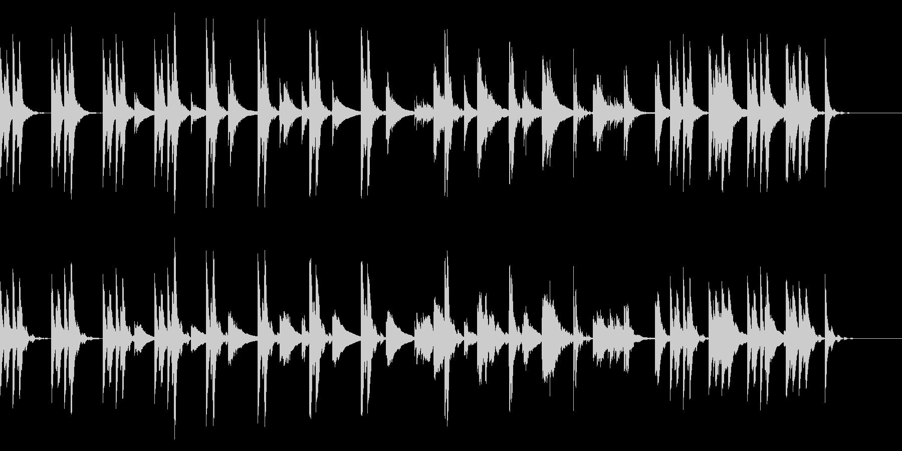 不安、自問の場面のシンプルな曲の未再生の波形