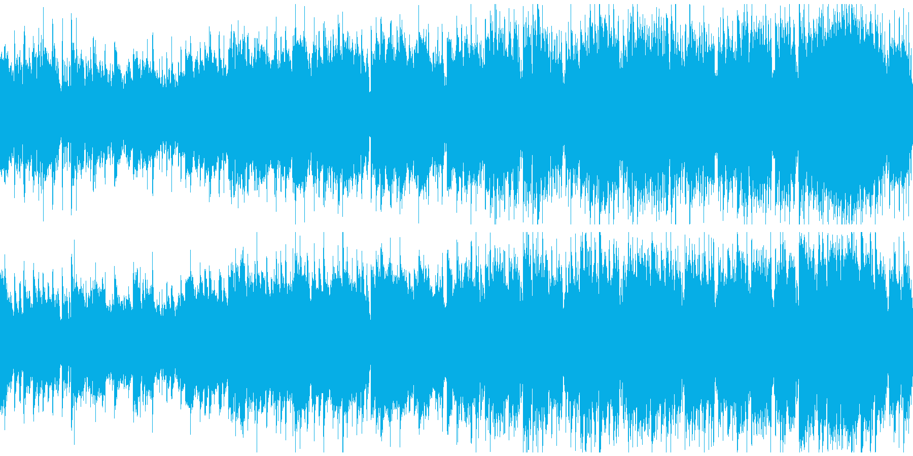 オープニング映像向け優雅ポップ※ループ版の再生済みの波形
