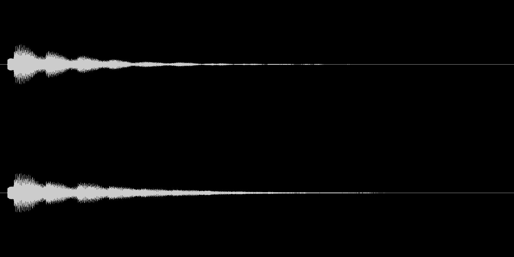 テロップの音・決定音・タラーンの未再生の波形