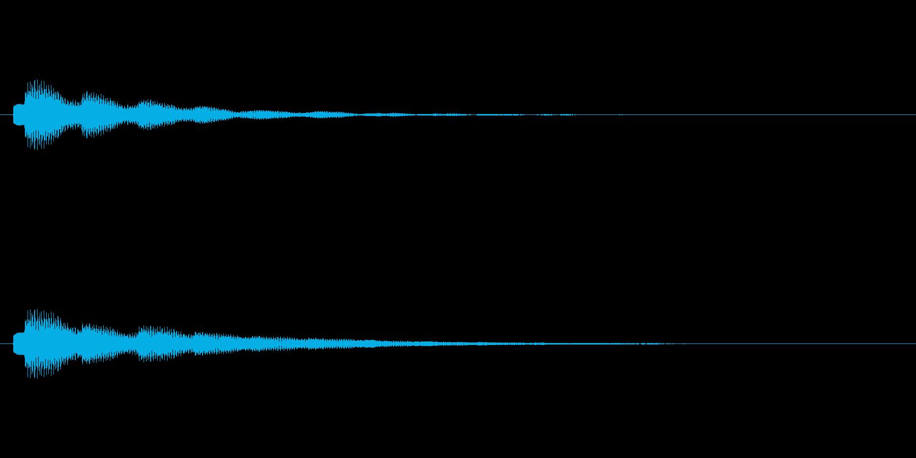 テロップの音・決定音・タラーンの再生済みの波形