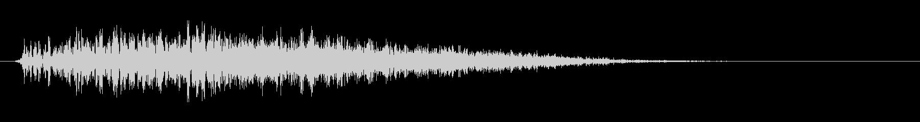 ゾンビ 怪物 うめき声の未再生の波形