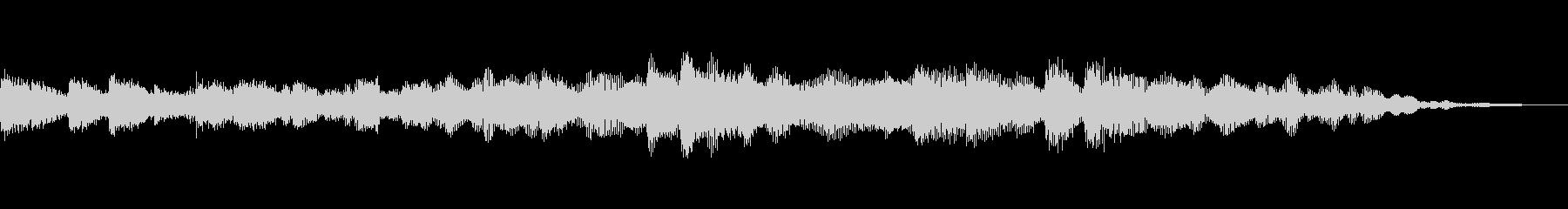 ダークで静謐なピアノアンビエントの未再生の波形