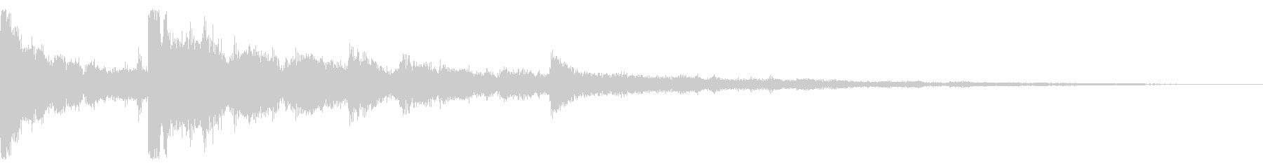 不穏 ピンポン トイピアノ リバーブの未再生の波形