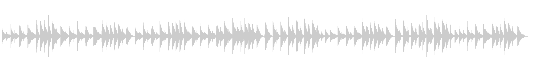やさしいピアノ、チェルニーNo.1の未再生の波形