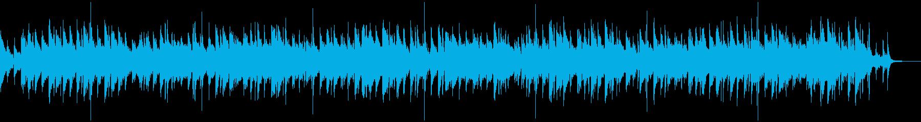 ゆったり落ち着いたジャズ風BGMの再生済みの波形