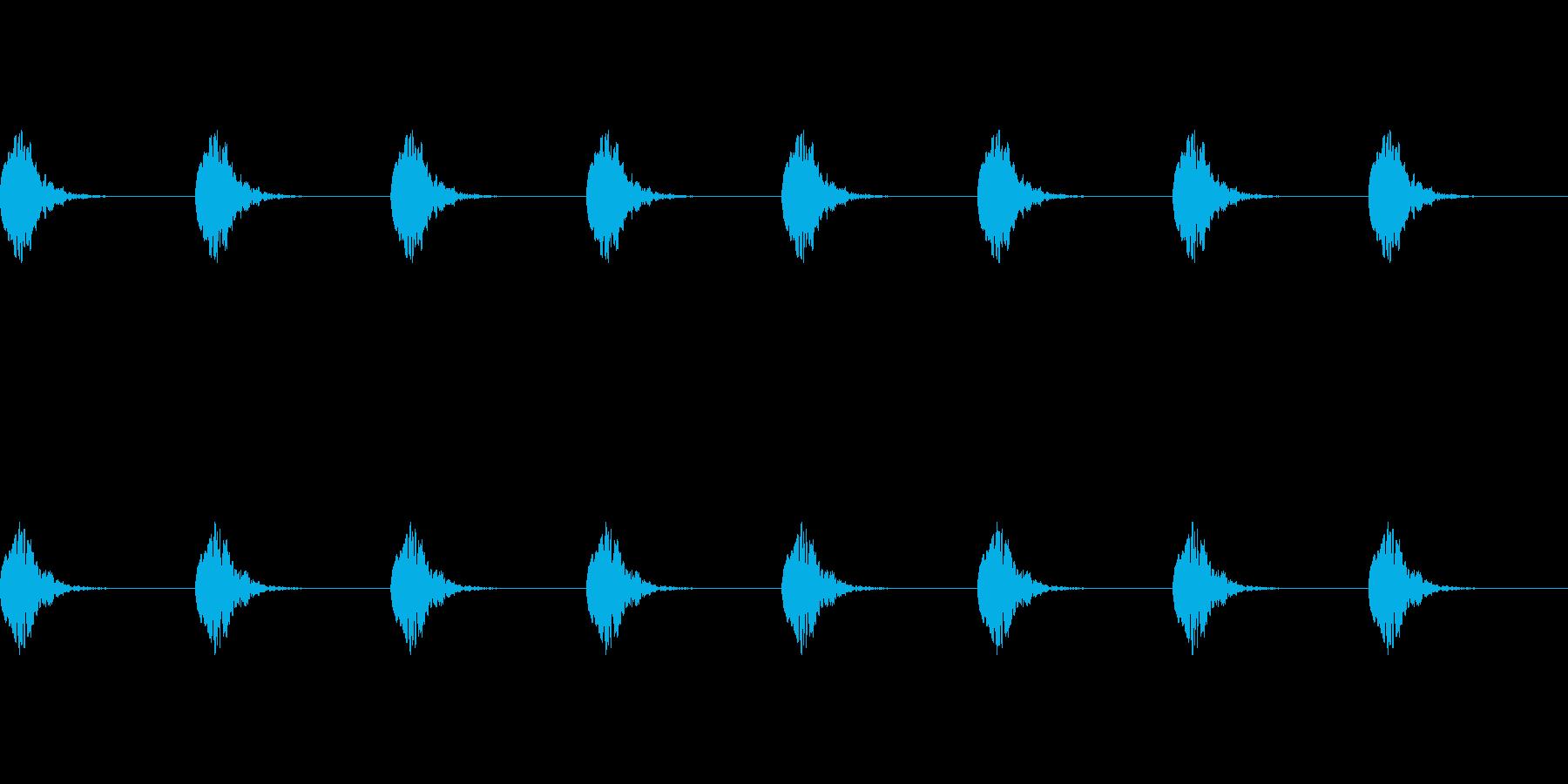 【誘導音 横断歩道01-4L】の再生済みの波形