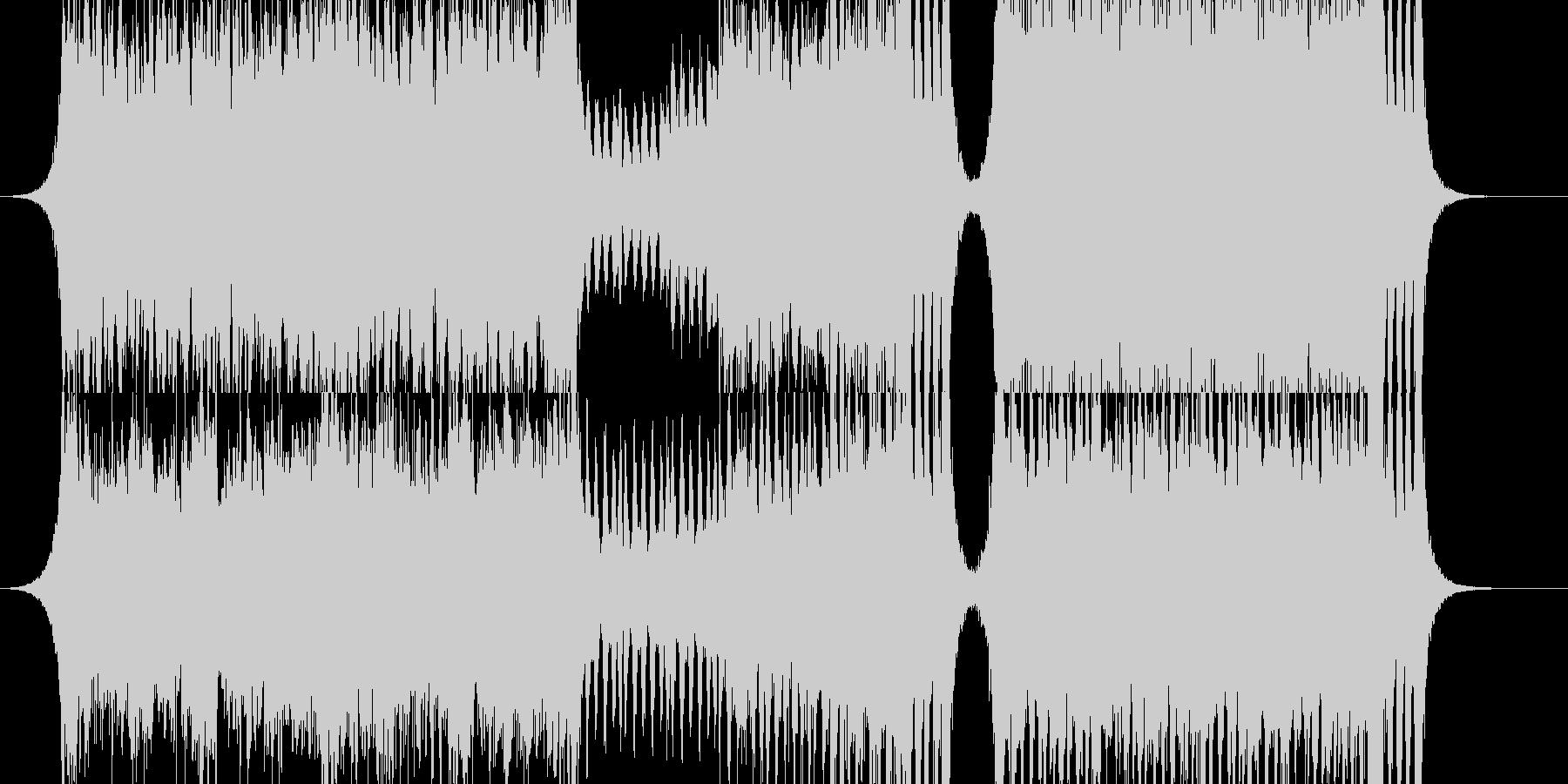 緊迫感のあるオーケストラ RPGバトルの未再生の波形