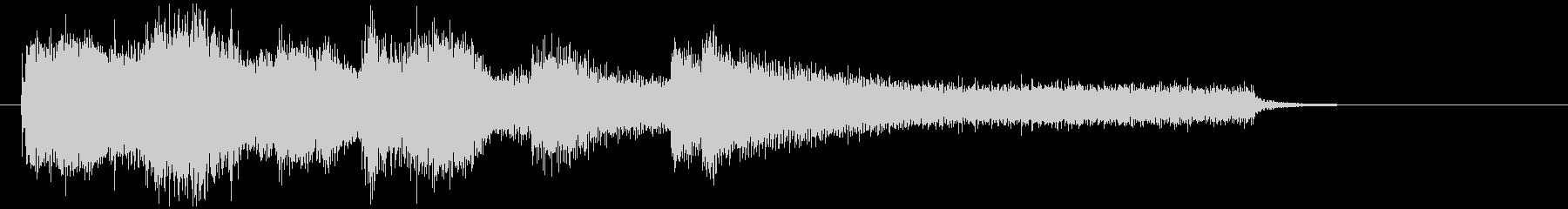 昭和のミステリー、サスペンス風なジングルの未再生の波形